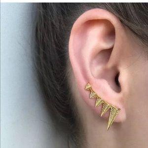 Melinda Maria Gold SLOANE SPIKE CRAWLER EARRINGS